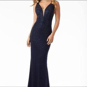 Morilee Sparkle Jersey Sheath Dress